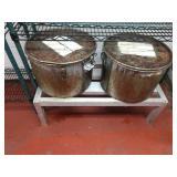 Lot 2 Large SS Pots & 3