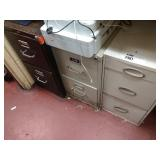 Lot 3 3-Drawer File Cabinets