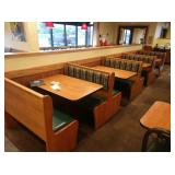 4x Sections Oak Frame 4-Top Booth Seats *No Tables