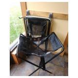 1 Lot 3-Mesh Punkin Seat Slings w/ 2 Holding Racks