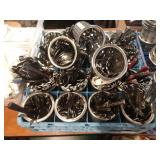 1 Lot Dish Rack w/19 Full SS Flatware Holders