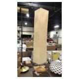 Wooden Base Floor Lamp w/ Beige Crepe Shade