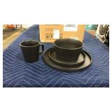 Stone + Lain 16pc Matte Black Stoneware Set