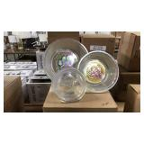 1 Lot 12 Oceana Glass Dog Bowls, Crystal