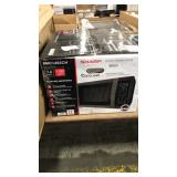 Sharp Black Stainless Steel Microwave