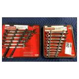 1 Lot 2 Craftsman 9-pc Combination Wrench Sets,