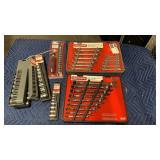 1 Lot 8 Craftsman Comb. Wrench Sets & Socket Sets: