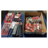 1 Box Craftsman Socket, Pliers, Wrench & Hex Key