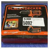 12V Lithium Black & Decker Drill Driver