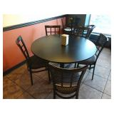 Black Round Dining Table, ** Table Only**