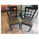 2x Sterling Black Metal Framed Dining Chairs w/
