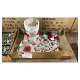 1 Lot Crackle Glass Floral Candle Accessories,