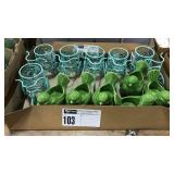 1 Lot 6 Green Bird & 6 Tricycle Candle Holders