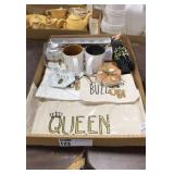 1 Lot Queen Bee Gift Items: Bags, String Lights,