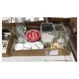1 Lot Asst Gift Items: Mugs, Plates, Coasters