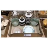 1 Lot 4 Vases & 5 Plates