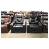 2x Black Myles Power Reclining Theater Chairs ***