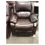 Brown Stationary Recliner **Recliner Is Difficult