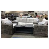 1 Lot 4-pc Avalon Deep Seating Set: Grey Open