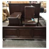 1 Lot King/Cal-King Dark Cherry Bedroom Suite: