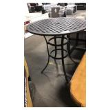 "Gather Craft 42"" Diameter Metal Weave Patio Table,"