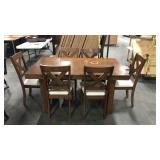1 Lot 7-pc. Dining Set **Damaged Top**: