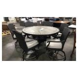 "1 Lot 7-pc Patio Set: 60"" Diameter Counter Height"