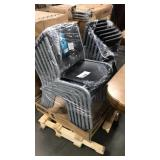 1 Lot 14 Lifetime Contoured Stacking Chairs