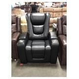 Myles Black Leather Touch Home Theater Power