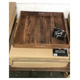 3x Las Premices Black Walnut Trays