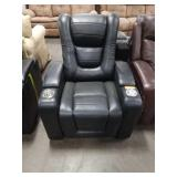 Black Myles Power Reclining Theater Chair
