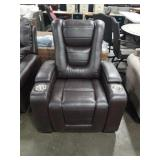 Brwon Myles Power Theater Chair w/ Storage Arm