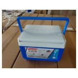 2X (2) CASES OF COLEMAN FLIP LID 6 CAN COOLERS,