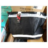 1 LOT, CASE  OF BLACK LINED BAGS W/ WHITE STRAPS