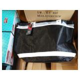 7X (7) CASES  OF BLACK LINED BAGS W/ WHITE STRAP