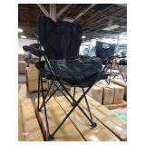 1 CASE OF ACE LINE BLACK FOLDING CHAIRS          E