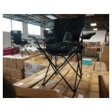 5X  (5) CASES OF ACE LINE BLACK FOLDING CHAIRS   E
