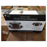 1 LOT CASE IMPERIAL HOME S.S. OVAL OVEN ROASTER