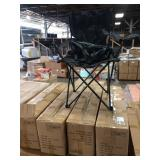 4X  (4) CASES OF ACE LINE BLACK FOLDING CHAIRS