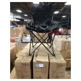 5X  (5) CASES OF ACE LINE BLACK FOLDING CHAIRS