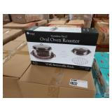 8X (8),CASES OF IMPERIAL HOME S.S. OVAL OVEN ROAS