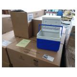 18X (18) CASES OF COLEMAN FLIP LID 6 CAN COOLERS,