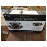 1 CASE IMPERIAL HOME S.S. OVAL OVEN ROASTERS,