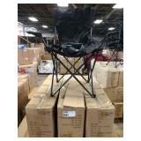 3X CASES ACE LINE BLACK FOLDING CHAIRS