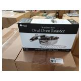 4X CASES IMPERIAL HOME S.S. OVAL OVEN ROASTERS