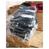 1 LOT, 1 CASE AND LOOSE STACK BLACK TOTES BAGS
