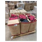 1 LOT, (9) BOXES ASSORTED LUGGAGE PCS, RED & BLAC