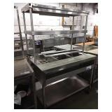 Rolling 3-Compartment Elect. Steam Table w/