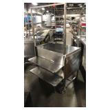 """Rolling SS Table Cart, Approx 36"""" x 24"""" w/ Drawer"""