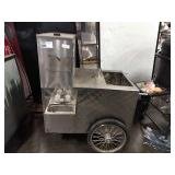 Propane Powered Hot Dog Cart on Wheels, Approx